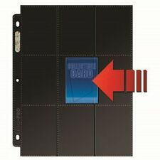 (10) Ultra Pro Black 18-Pocket Side Load Trading / Gaming Card Pages 9 Pocket x2