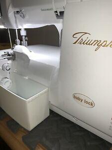 Babylock Triumph or Ovation Serger trim waste bin - custom made - in WHITE!