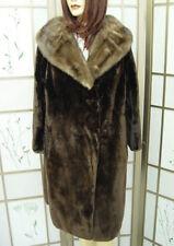 ! MINT CANADIAN NATURAL ARCTIC BEAVER FUR COAT JACKET  MINK WOMEN WOMAN SZ12 MED