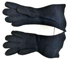 Rare Vintage Crescendoe Designer Womens Black Leather Tailored Gloves Size 6.5