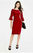 Boden Aubrey Velvet Flute Sleeve Party Dress, Poinsettia BNWT Size UK 10 petite