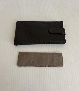 NEW Bottega Venetta Woven Sunglasses Case Soft Shell Magentic Pouch with Cloth
