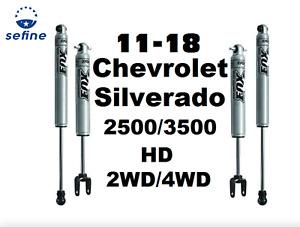 "Fox 2.0 Series Perform Front +Rear Shocks 0-1"" For Silverado 2500/3500 HD 2/4WD"