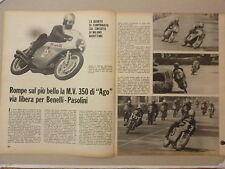 ARTICOLO A MILANO MARITTIMA MV AGOSTINI - BENELLI PASOLINI  -- 1969