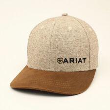 Ariat Mens Hat Snap Back Tweed Oilskin Logo Tan/Brown A300003402