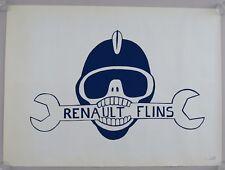Affiche originale mai 68 RENAULT FLINS CRS french poster 1968