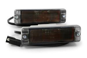 ARB Bullbar Smoked Indicators Lights Blinker Lamps Pair 135 x 38mm Turn Signal