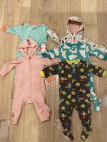 12 month girl pajama lot carter's hearts, polar bears, super hero's, dragon