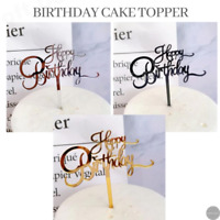 """""""Happy Birthday"""" Cake Topper, for Party Dessert Cupcake Decor Gifts Acrylic"""