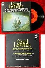 Single Gerard Lenorman: Je N´ai Jamais Rencontré Dieu (CBS 2531) F 1974
