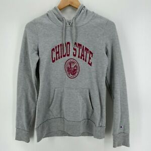 Champion Hoodie Women's Size S Gray Chico State CSUC Pullover Wildcats