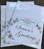 Geographics 3 Pks Of 12 Greeting Cards W/ Envelopes Silver Gold Frost NEW