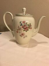 Vintage C T Altwasser Lusterware Porcelain Coffee/Tea Pot w/Pink Flowers