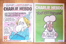 RARE CHARLIE HEBDO N° 1177 + 1178 - //  7 & 14 JANVIER 2015. NEUF- COLLECTOR !!