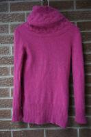 Banana Republic 100% cashmere sweater tutleneck pink sz womens S cowl neck