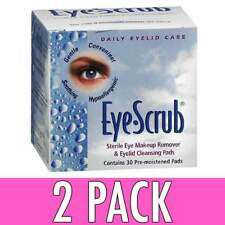 Eye Scrub Sterile Makeup Remover and Eyelid Cleansing Pads 30 Count