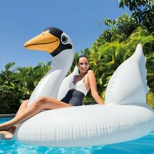 MEGA SWAN ISLAND ADULT INFLATABLE LILO WITH HANDLES SWIMMING POOL TOYS