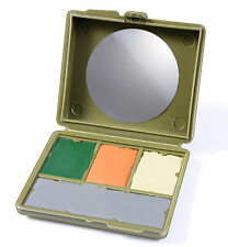 Gi Type 4 Color Face Paint -Compact Case Is Multi-Cam MultiCam - Includes Mirror