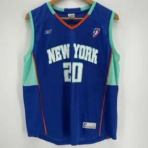 Reebok Basketball Jersey Adult M Blue New York Liberty #20 Christon WNBA
