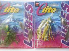 Lot Of (4) -Elite 1/4 Oz. Spinnerbaits Buzzbait Freshwater Big Bass