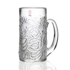 Skruf – Edenfalk – Peacock Feather Textured Glass Beer Tankard – Swedish 1960s