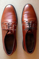 The Hanover Shoe Brown Pebbled Leather Lace-Up Shoes Size 11 Made in Italy