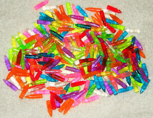 240 LED LITE BRITE PEGS ASSORTED COLORS GOOD USED CONDITION