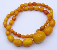 FINE BALTIC AMBER EGG YOLK BEAD NECKLACE. 29 GRAMS, 100% NATURAL