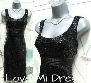 M&S  Stunning Sequin  Evening Dress Sz 10 R EU38