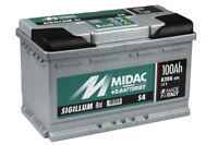 MIDAC SIGILLUM Starterbatterie S4 Plus 12V 100AH (High-DIN Version) EN (A):800