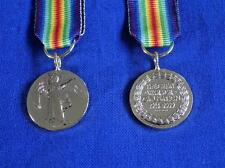 VICTORY MEDAL 1914 to 1919 ( INTER ALLIED VICTORY MEDAL ) MINIATURE MEDAL