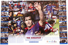 The Greatest - Andrew Johns Hand Signed Newcastle Knights Lithograph
