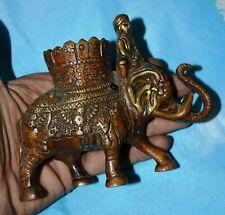 Royal King Elephant Pen Stand Reading Table Showpiece Handicraft Brass Item A90