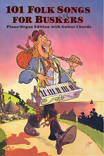101 Folk Songs For Buskers Learn to Play Piano Guitar Chord Music Book