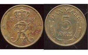 DANEMARK   5 ore 1969  ( bis )
