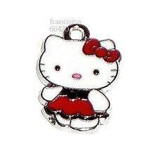 HK20// BRELOQUE CHARM PERLE / HELLO KITTY ROBE FLOT ROU