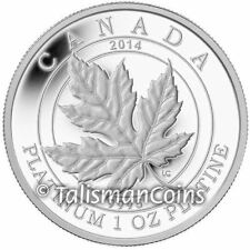 Canada 2014 Maple Leaf Forever $300 Pure Platinum Maple Leaf Proof MINTAGE 250!