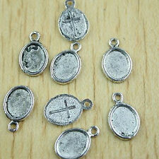30pcs Tibetan silver oval picture frame charms h0402