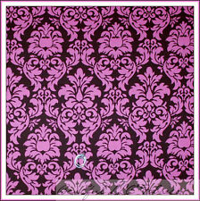 BonEful Fabric FQ Cotton Quilt Pink Brown Damask Scroll S Flower Baby Toile Girl