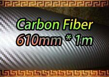 Fibra De Carbono Silver Wrap Vinilo Hoja pegatina: 610 mm * 1m