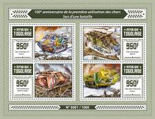 More details for togo military & war stamps 2016 mnh wwi ww1 mark iv schneider tanks 4v m/s