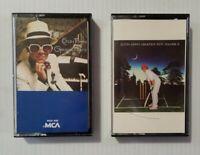 """Elton John """"Greatest Hits"""" & """"Greatest Hits Volume II"""" Cassette Tape Lot of 2"""