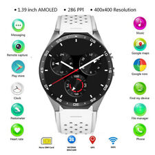 Round Bluetooth Smart Watch Unlocked 3G WIFI GPS Smartwatch for iOS Android NEW