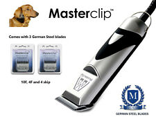 Daschund cane Clippers Trimmer Set con 3 lame da Masterclip Professional