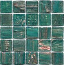 25pcs GM67 Teal Bisazza Le Gemme Italian Glass Mosaic Tiles 2cm x 2cm