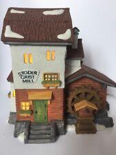 Dept 56 Stoder Grist Mill 1988 Apline Village #59536 Retired 1997
