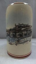 antiker Bierkrug Krug Andenkenkrug Gruss aus Würzburg 3/4 Liter