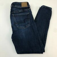 American Eagle Denim Jeans Women's Size 4 Blue Next Level Stretch Skinny Fit