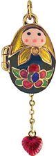 Faberge Egg Pendant / Charm with Matryoshka & Heart 2.4 cm #0009-32C-17