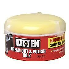 Kitten Cream Cut Polish Wax No.2 280gr Car Carnauba With Foam Applicator PICK UP